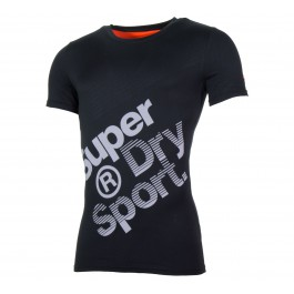 Superdry Gym Base Sprint Runner Tee zwart - grijs