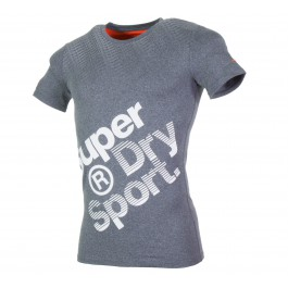 Superdry Gym Base Sprint Runner Tee grijs - wit