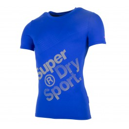 Superdry Gym Base Sprint Runner Tee blauw - grijs