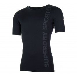 Superdry  Gym Sport Runner S/S Top zwart