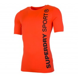 Superdry Gym Sport Runner S/S Top oranje - zwart