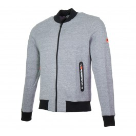 Superdry  Gym Tech Bomber grijs - zwart - wit