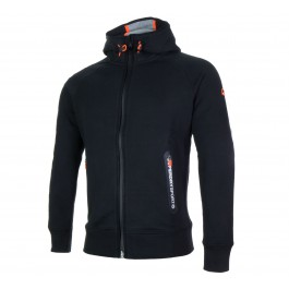 Superdry Gym Tech Ziphood zwart - oranje - wit