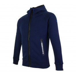 Superdry Gym Tech Ziphood navy - blauw