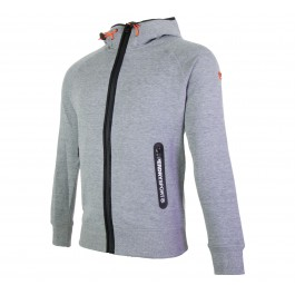 Superdry  Gym Tech Ziphood grijs - zwart - wit