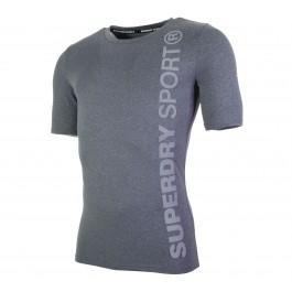 Superdry  Sport Runner SS Top grijs