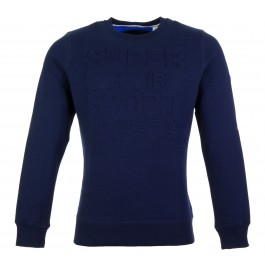 Superdry  Tech Embossed Crew donker blauw