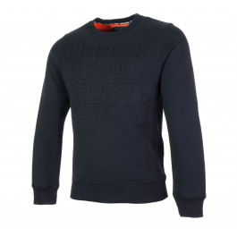 Superdry Tech Embossessed Crew zwart