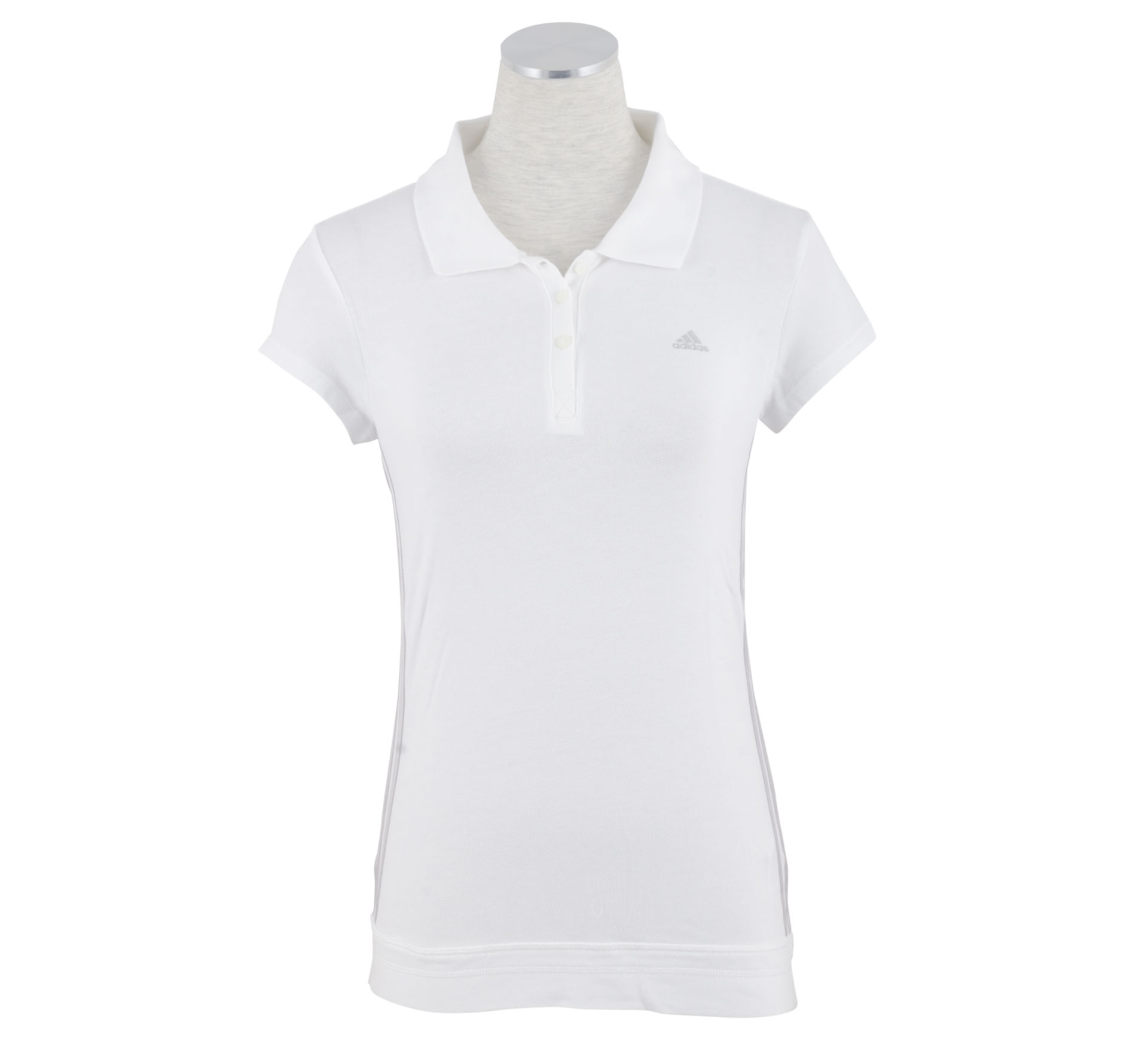 Adidas PR Essentials Polo Dames wit - zilver