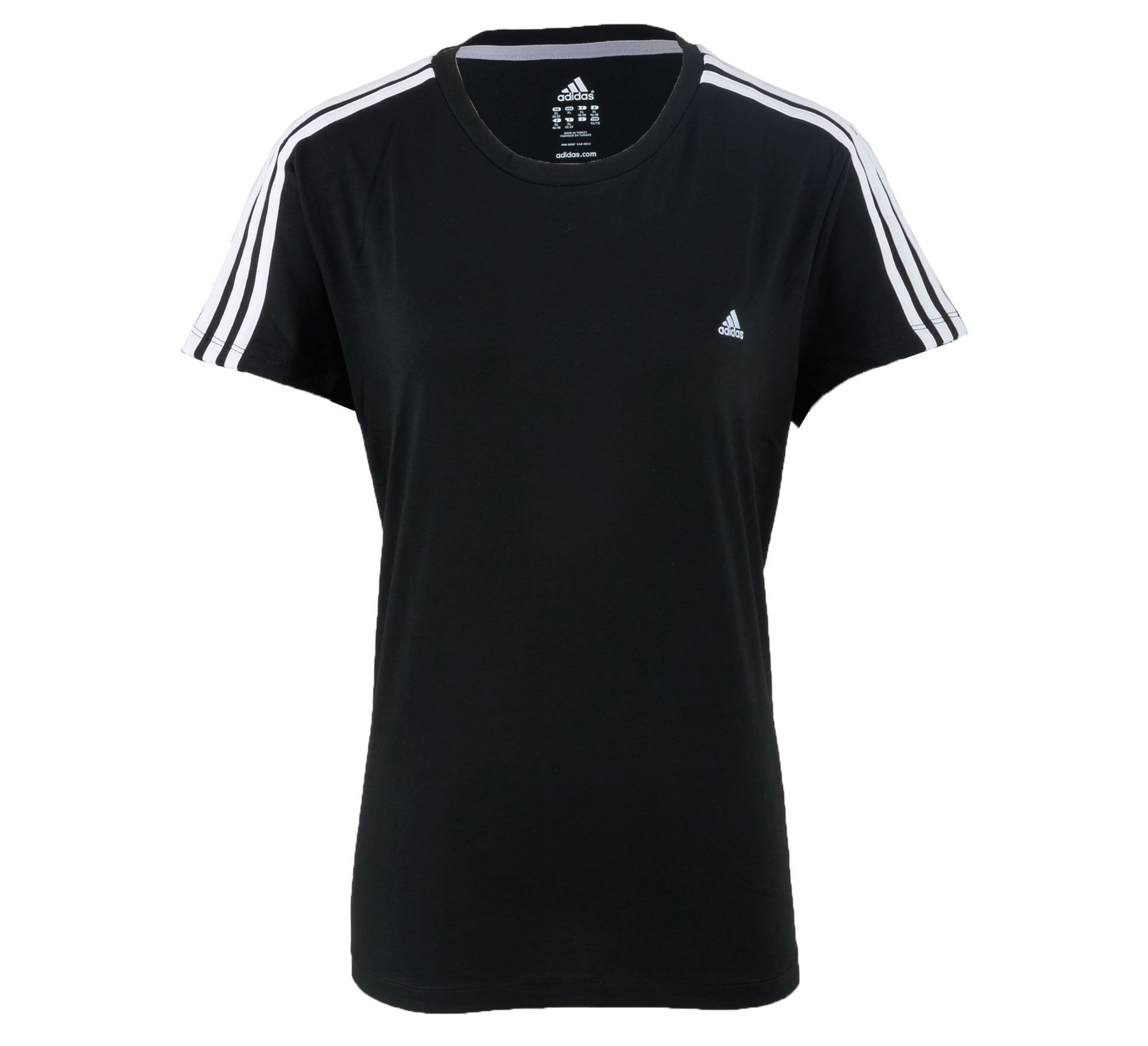 Adidas  Essentials 3Stripe T-shirt Dames zwart - wit