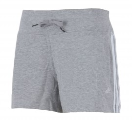 Adidas Essentials 3Stripe Short Dames grijs - wit