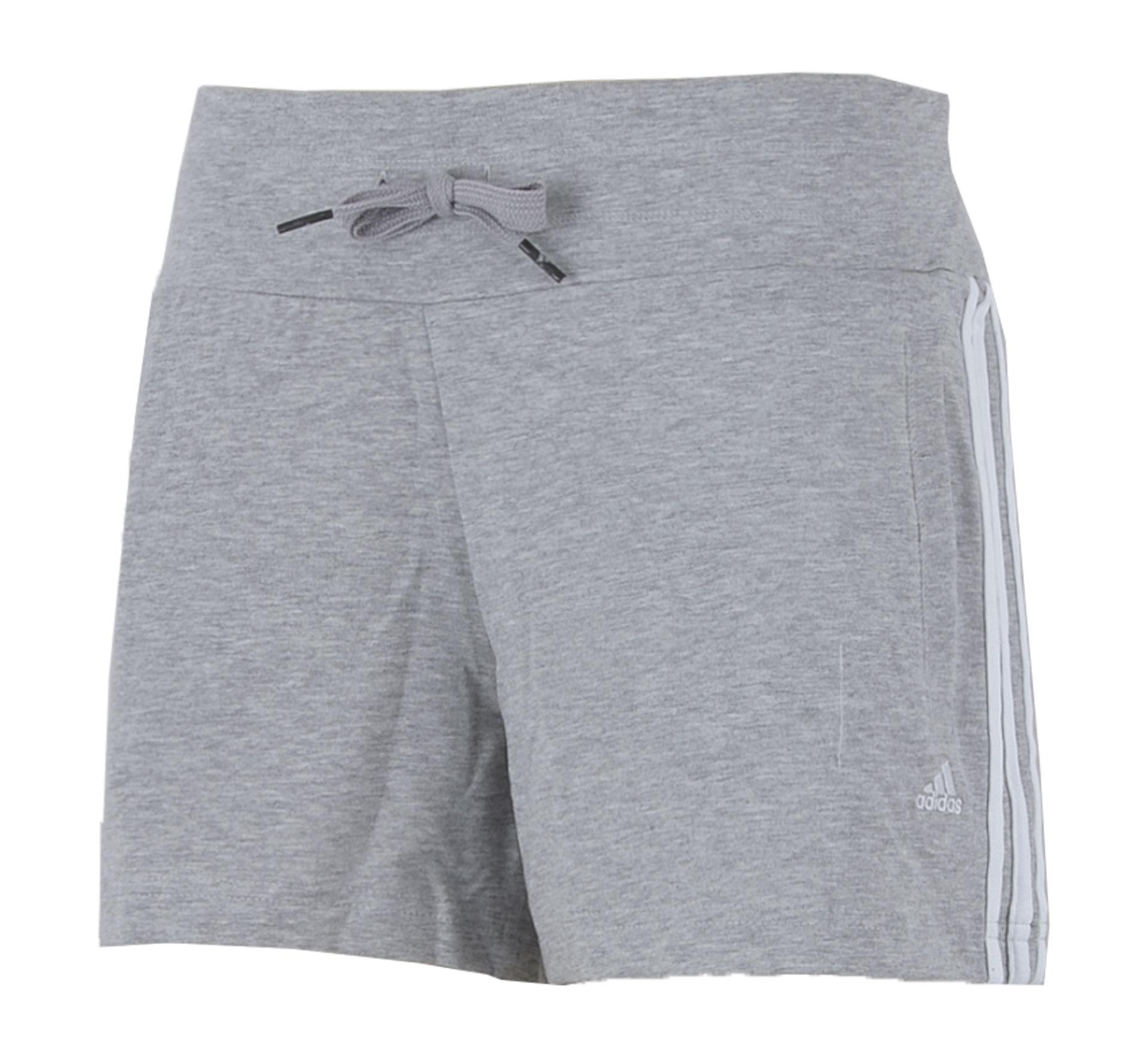 Adidas  Essentials 3Stripe Short Dames grijs - wit
