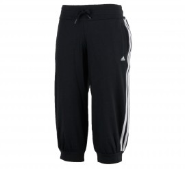 Adidas  Essentials 3Stripe 3/4 Broek Dames zwart - wit