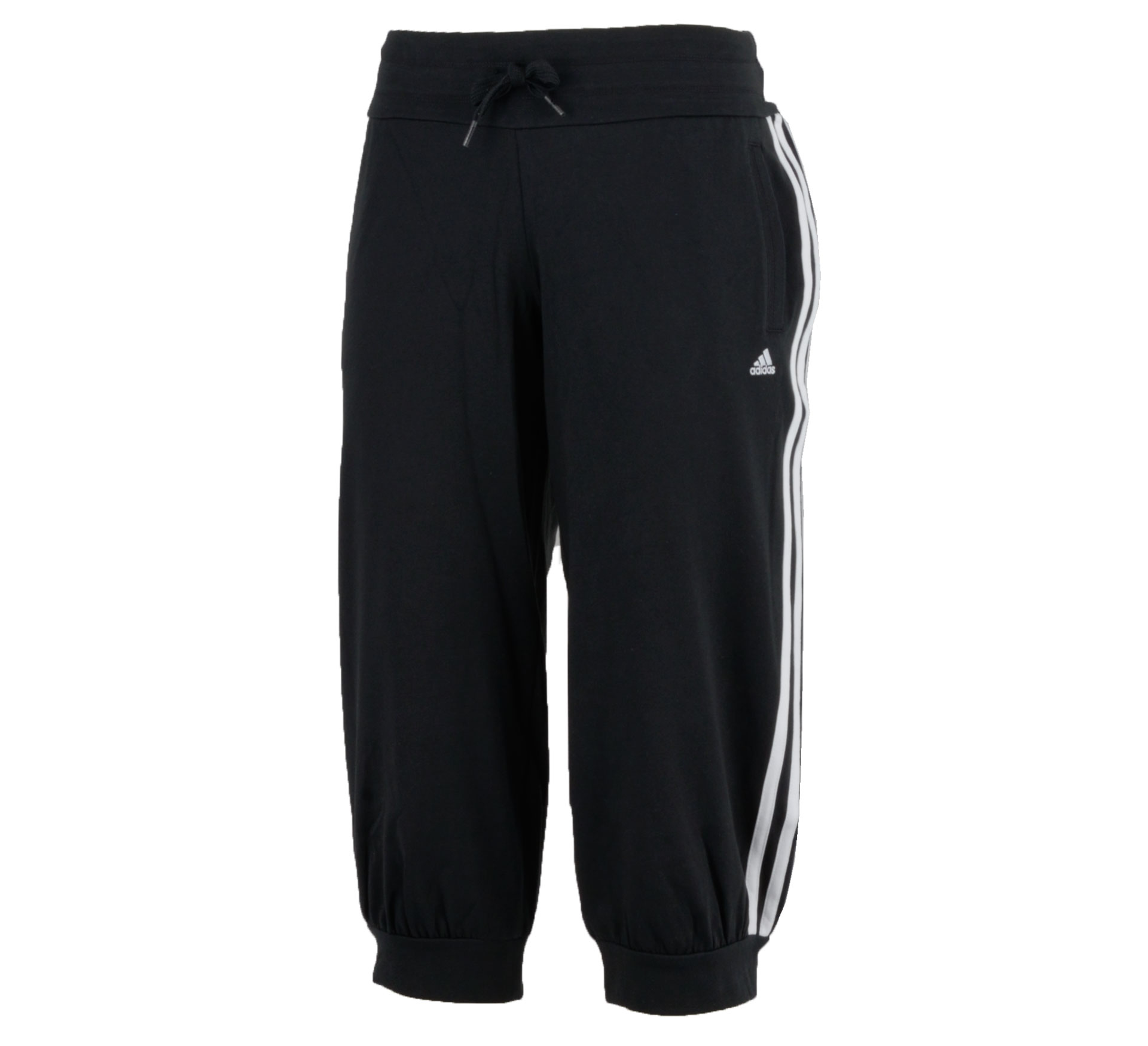 Adidas Essentials 3Stripe 3/4 Broek Dames zwart - wit