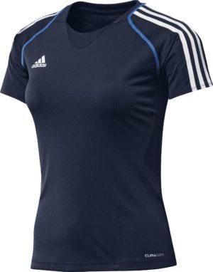 Adidas T12 Climalite Team T-Shirt - Dames - Blauw