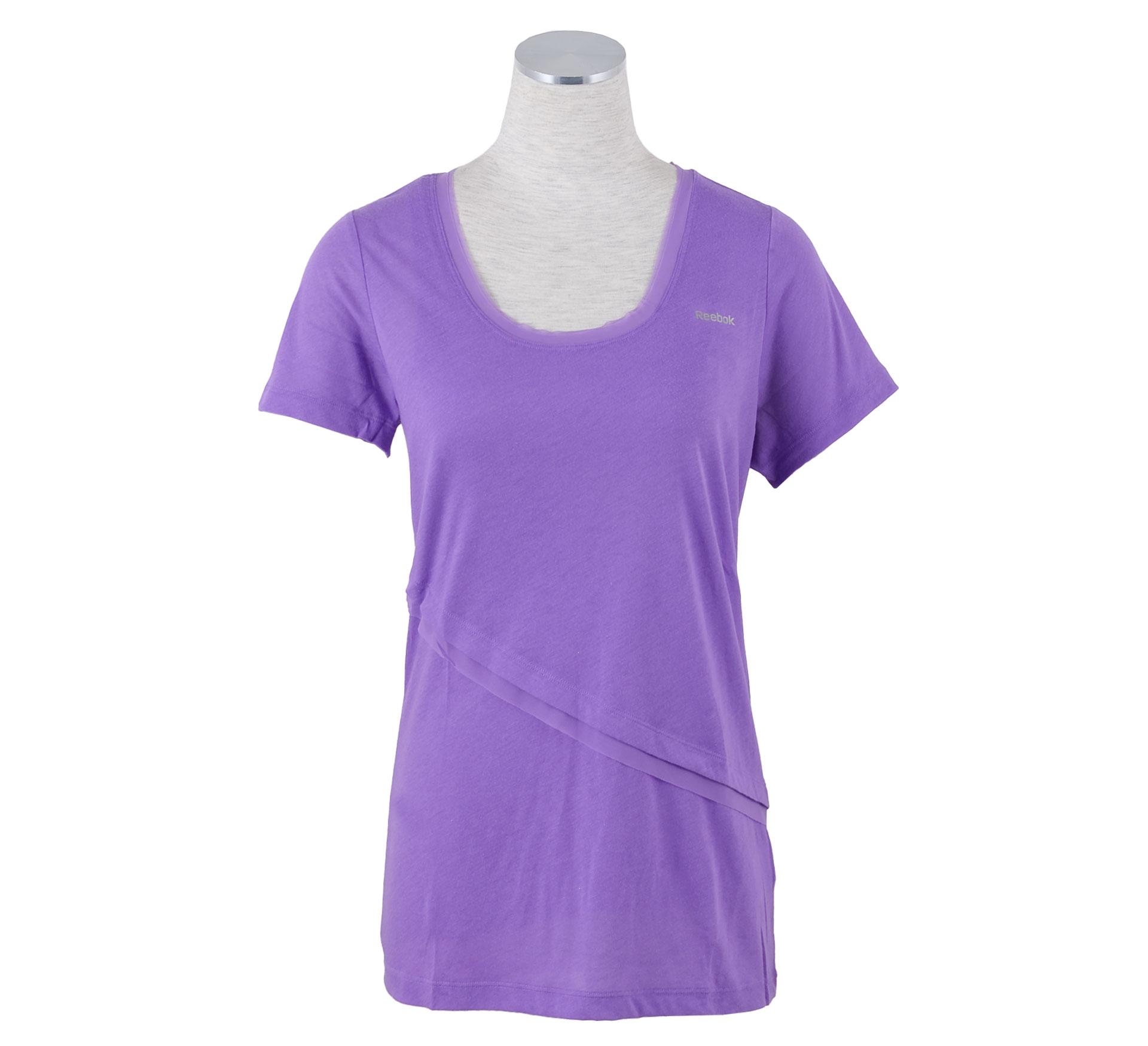 Reebok ShapeWear Double Layer T-shirt Dames paars