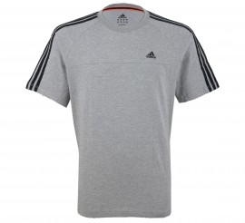 Adidas Essentials Crew T-shirt Heren grijs - zwart