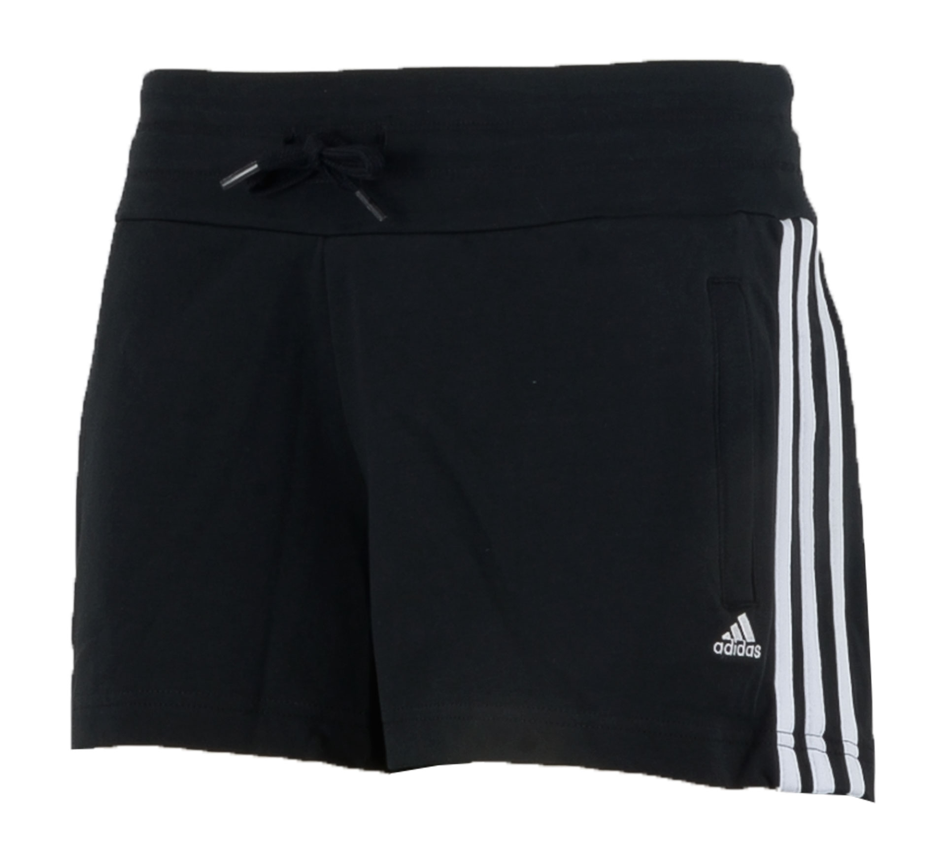 Adidas Essentials 3Stripe Short Dames zwart - wit