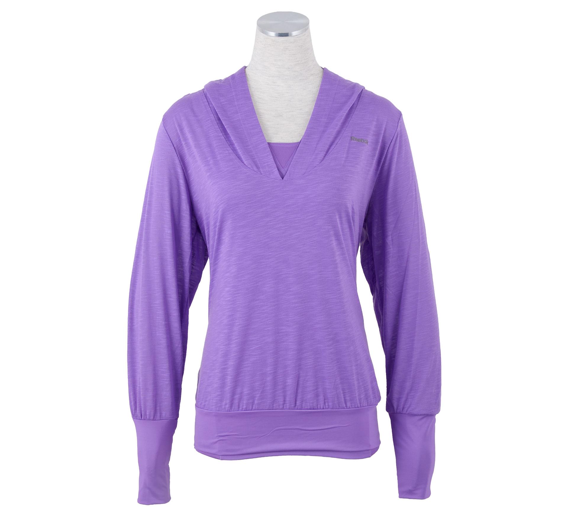 Reebok  EasyTone Double Capuchon Shirt Dames paars