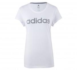 Adidas Essentials Brand T-shirt Dames wit - grijs