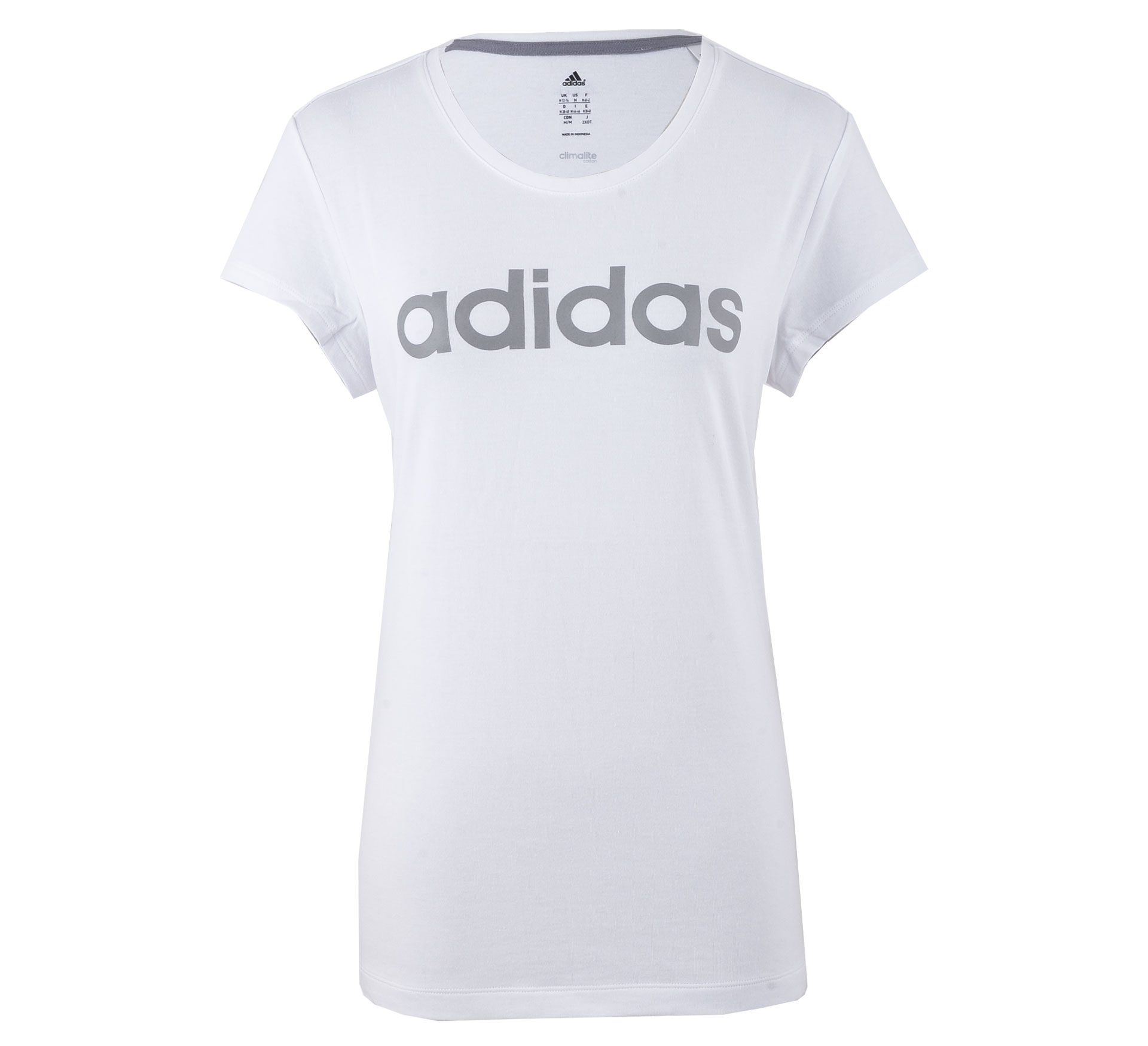 Adidas  Essentials Brand T-shirt Dames wit - grijs