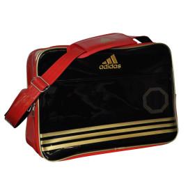Adidas Shiny Sporttas - Zwart/Rood/Goud
