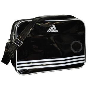Adidas Shiny Sporttas - Zwart/Wit