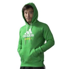 Adidas Community Junior MMA Hoodie - Groen/Wit