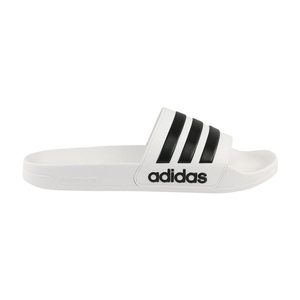 adidas Adilette Cloudfoam slippers wit/zwart