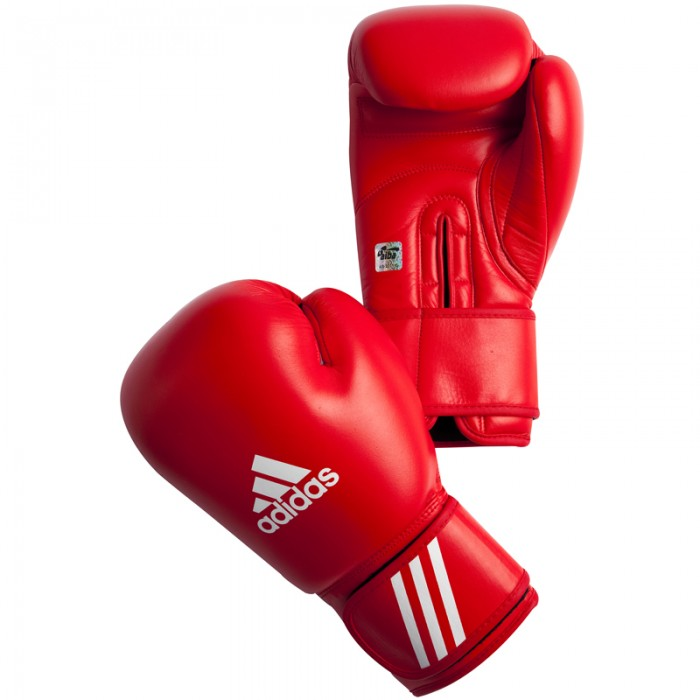 Adidas AIBA Bokshandschoenen - Rood_10 oz