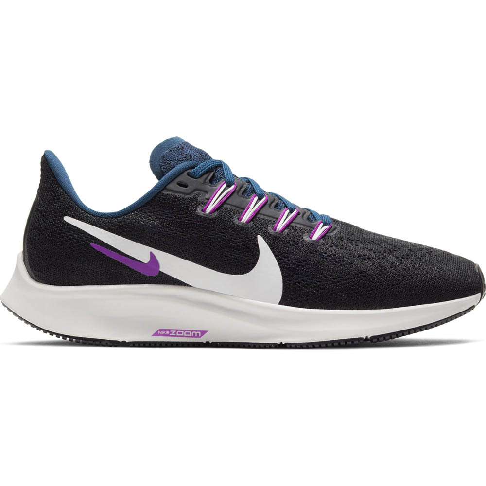 Nike Air Zoom Pegasus 36 hardloopschoenen dames zwart/blauw/paars