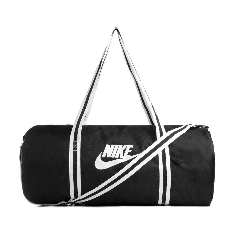 Nike Heritage Duffle sporttas zwart/wit