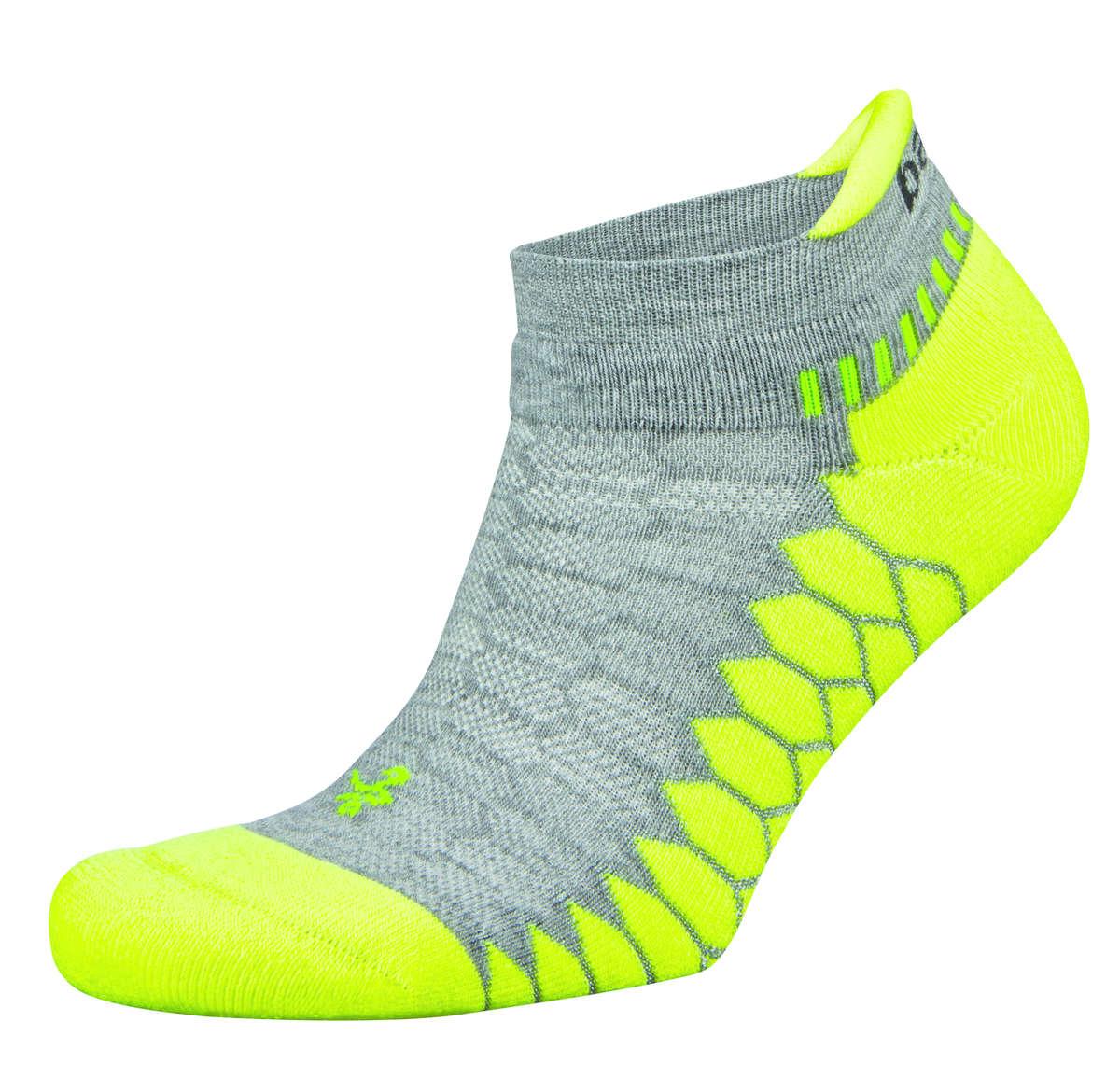 Balega Silver Sportsok Grijs/Lime groen - S