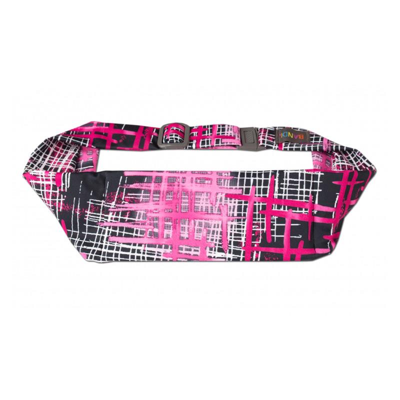 Bandi hardloop heuptas unisex zwart/roze