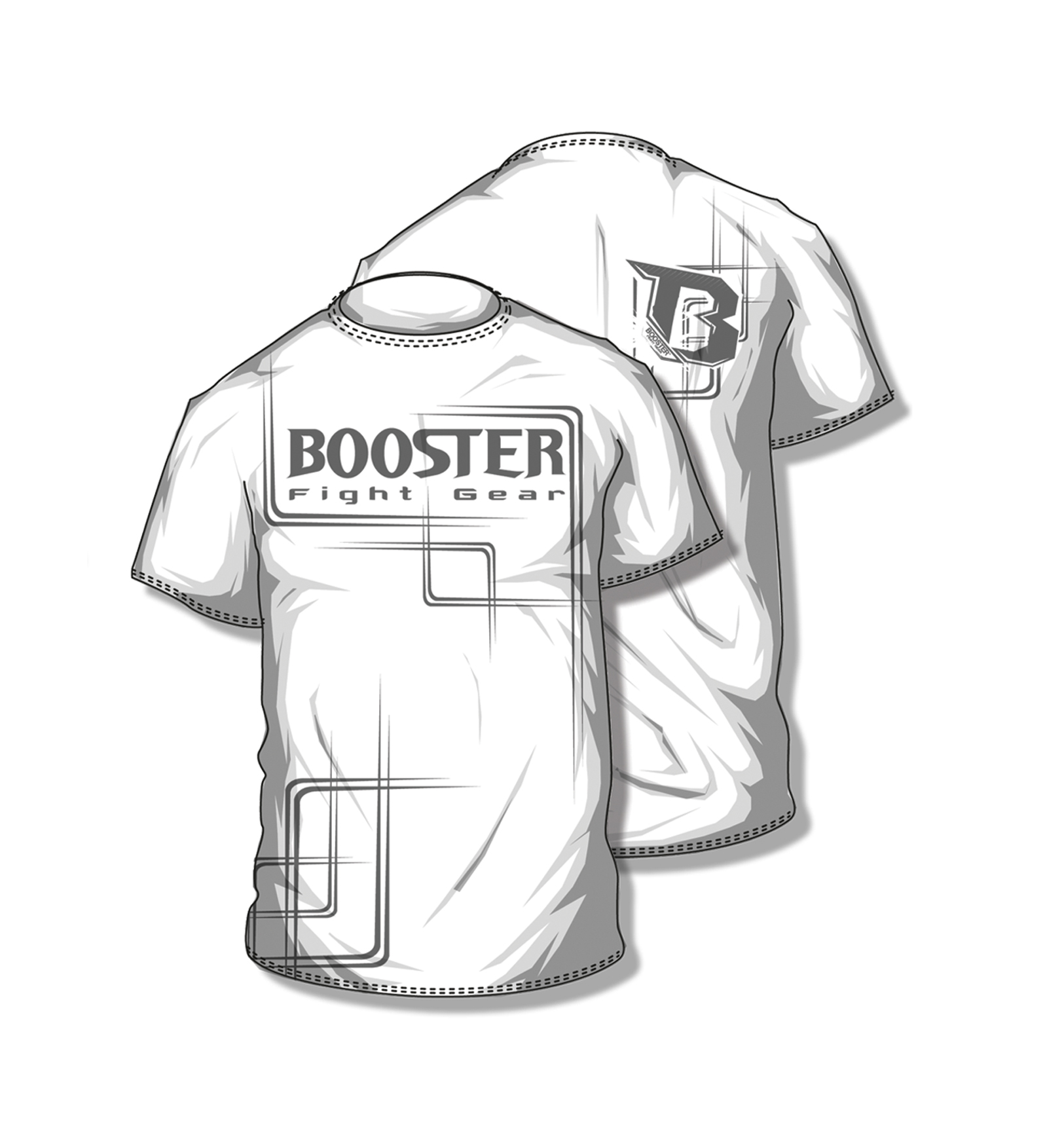 Booster  BC Walk out shirt white - M