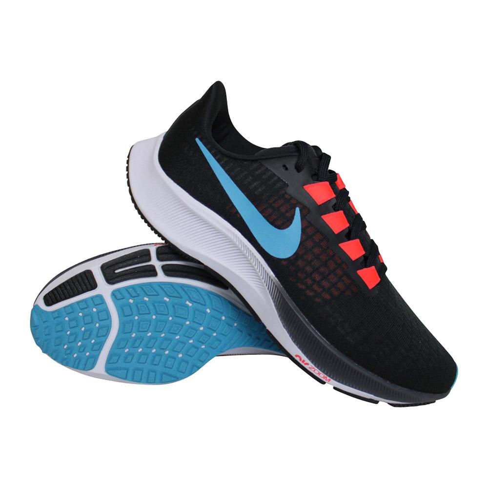Nike Air Zoom Pegasus 37 hardloopschoenen heren zwart/blauw/rood