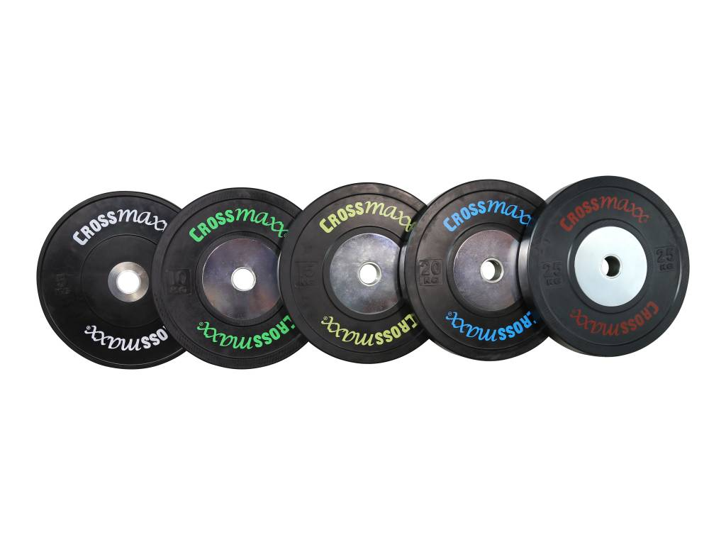 Crossmaxx Competition bumper plate - 50 mm (5-25 kg) - Zwart