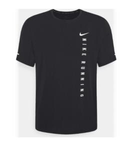 Nike Miler Run hardloopschirt heren zwart