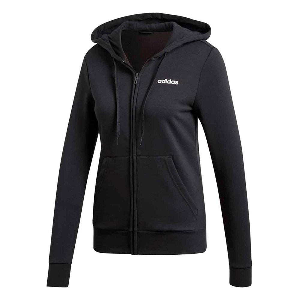 adidas Essentials FZ vest dames zwart/wit