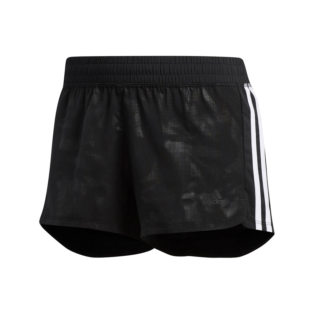 adidas 3-Stripes Embossed short dames zwart/wit