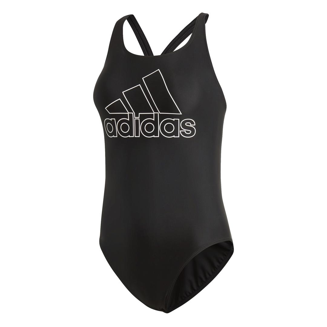 adidas Fit Suit badpak dames zwart/wit