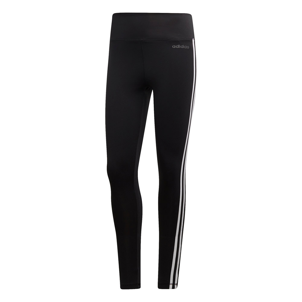 adidas D2M 3-Stripes tight dames zwart/wit