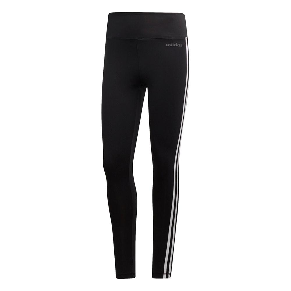 adidas D2M 3-Stripes tight dames zwart/wit