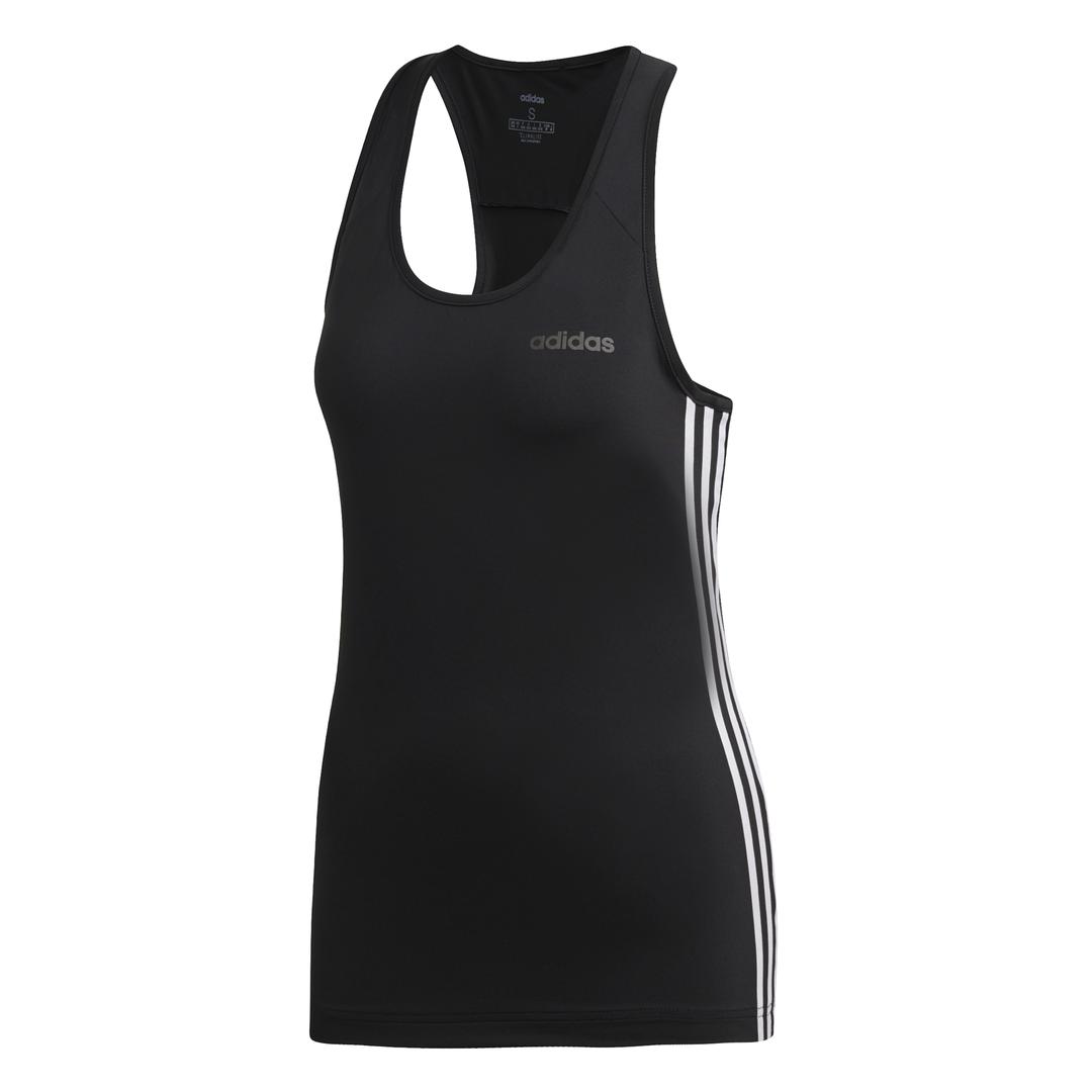 adidas Design 2 Move 3-Stripes tank top dames zwart/wit