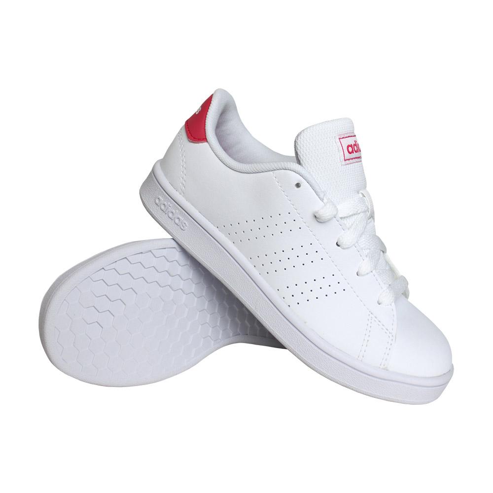 adidas Advantage K sneakers meisjes wit/roze