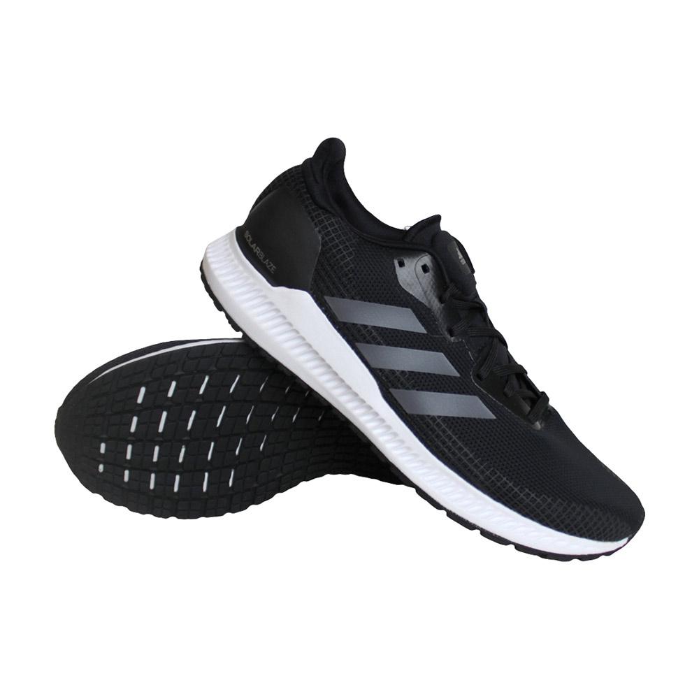 adidas Solar Blaze hardloopschoenen heren zwart/zilver