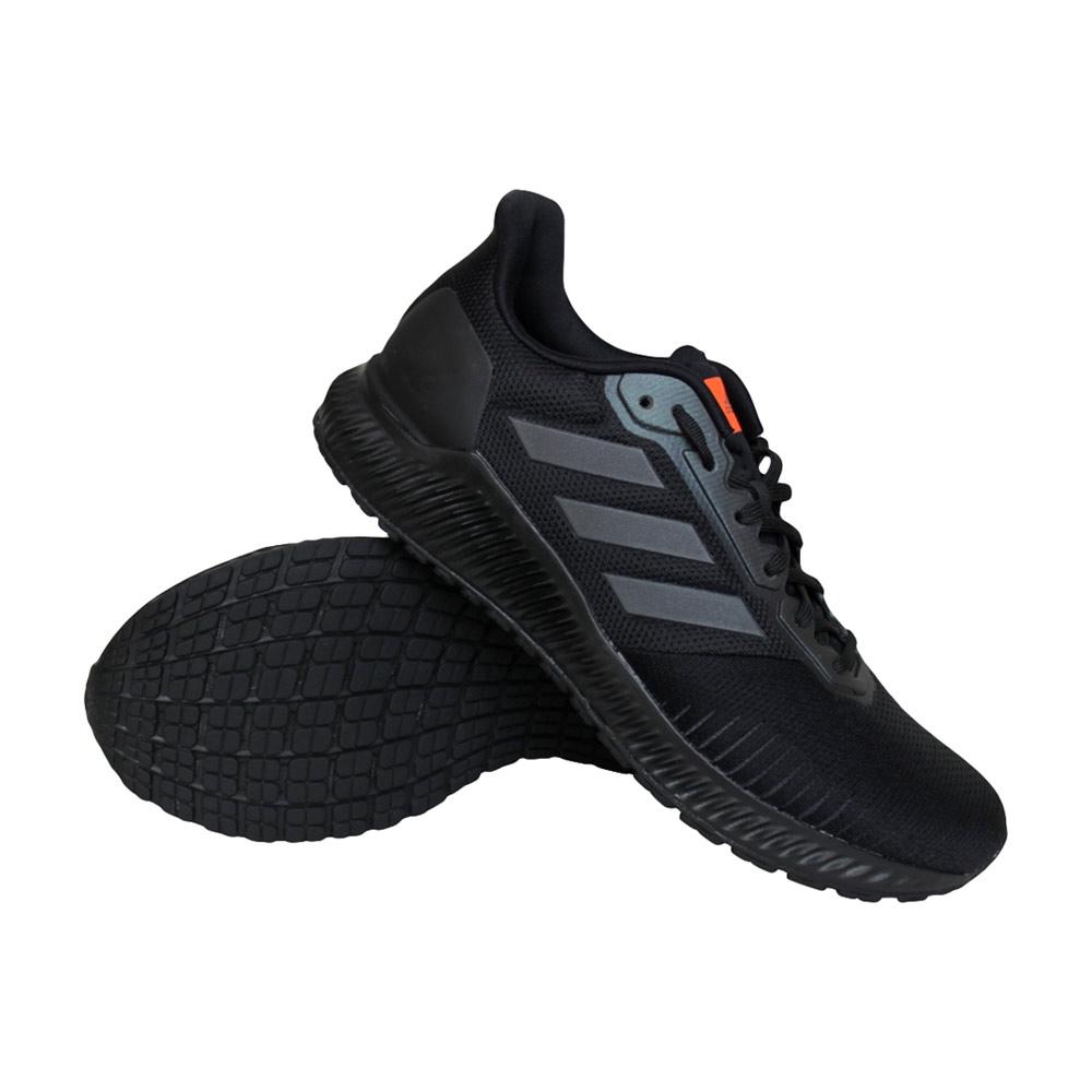 adidas Solar Ride hardloopschoenen heren zwart/grijs/oranje