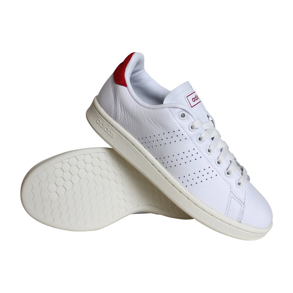 adidas Advantage sneakers heren wit/rood