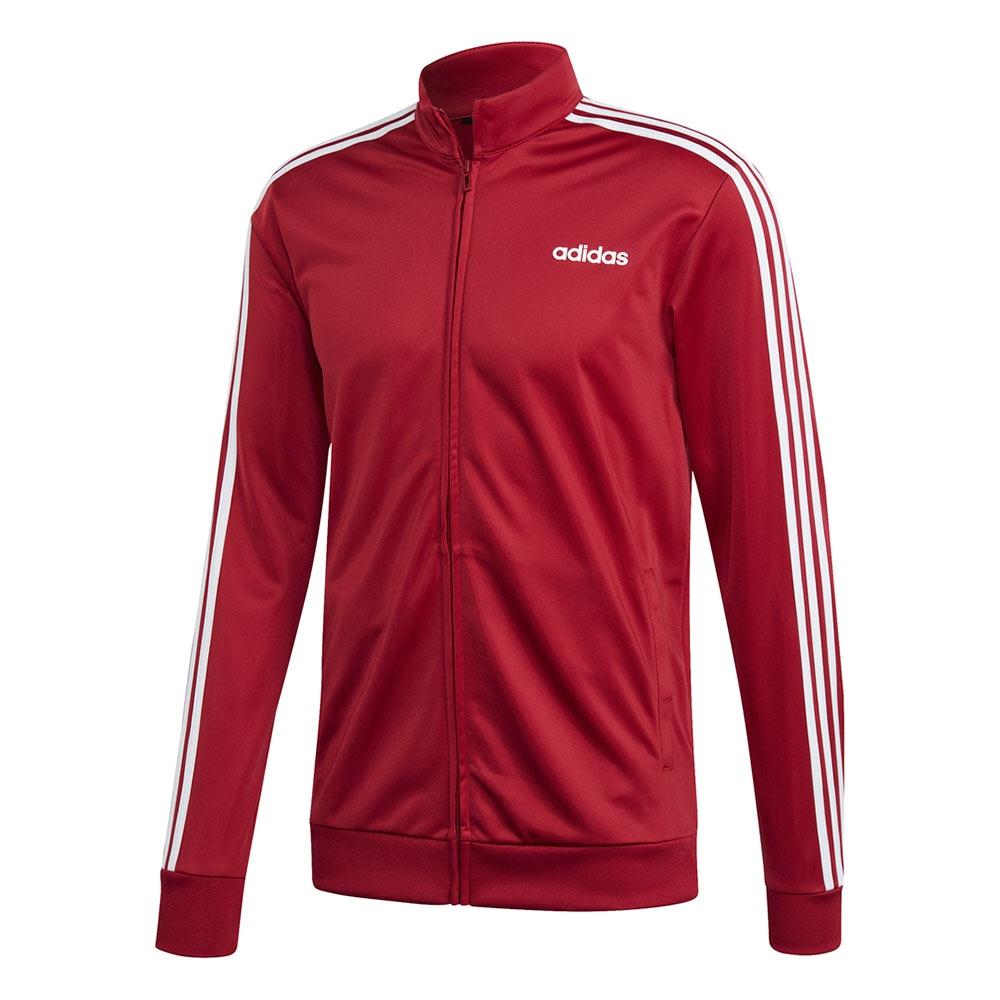 adidas Essentials 3 Stripes vest heren rood/wit
