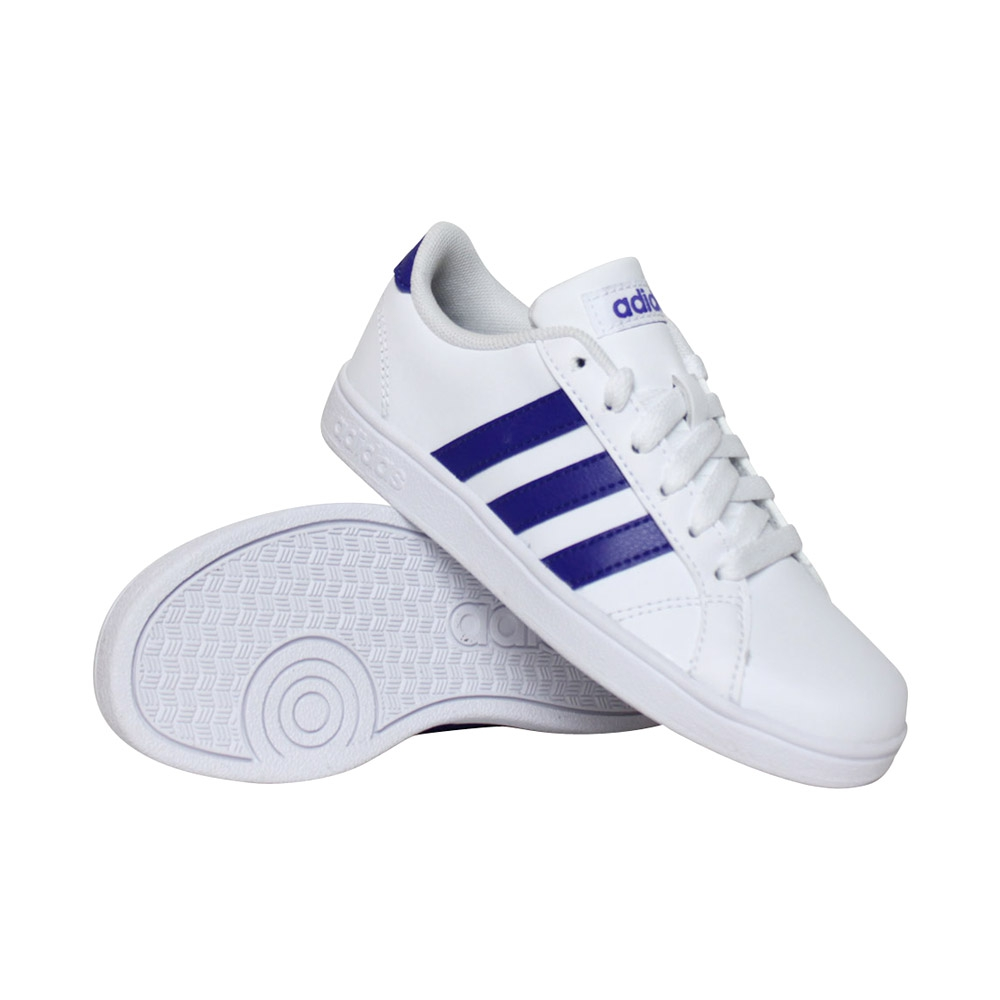 adidas Baseline sneakers jongens wit/blauw